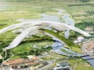 Plán na lyžařskou halu, která má vzniknout v dánském městě Randers.