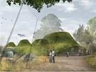 Vítězný návrh na přestavbu pavilonu velkých savců na nový pavilon Amazonie.