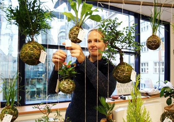 Lucie Hrubá se svou expozicí Zahrada na niti