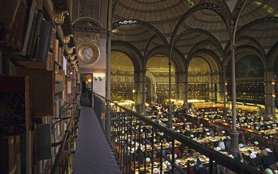 Studovna Francouzské národní knihovny vznikla několik let po knihovně svaté