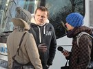 Po příjezdu do Žitavy poskytl Vít Bárta rozhovor několika novinářům, kteří...
