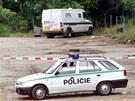 Prázdná dodávka z takzvané loupeže století, při které bylo 16. září 2002