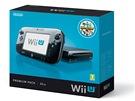 Černé balení konzole Wii U s úložným prostorem 32 GB a hrou Nintendoland.