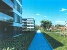 Nová Hůrka - montované domy mají dvě výhody, rychle rostou a byty v nich nejsou