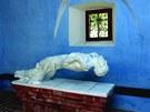 Plastika Zmrtvýchvstání Krista v kostelní kapli kostela v Dobrši od Tomáše