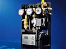 Vnitřek stanice s regulační jednotkou, která řídí celý solární systém. Zdroj: