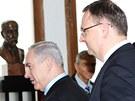 Izaelský premiér Benjamin Netanjahu přijel do Prahy poděkovat za to, že Česká