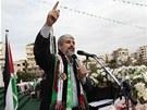 Vůdce radikálního palestinského hnutí Hamas Chálid Mišal vystoupil na