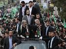 Izrael se snažil šéfa Hamasu Mišala neúspěšně zabít v roce 1997. Jeho nynější