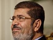 Egyptský prezident Mohammad Mursí při sobotních jednáních (8. prosince 2012)