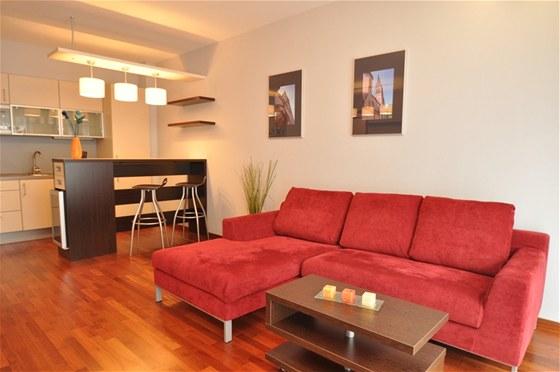 Pronájem stylových bytů v centru Prahy - obývák, kuchyně