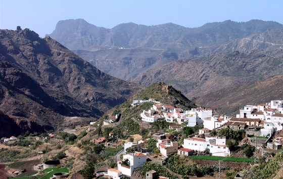 Krajina kolem obce Tejeda ve vnitrozem� Gran Canaria