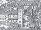 Klášter a kostel sv. Gabriela v roce 1898.