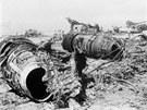 Dva letouny,které únosci zničili na Dawson´s Field.