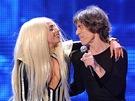 Lady Gaga vystoupila na narozeninovém koncertu Rolling Stones (15.12. 2012)