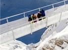 Most Titlis Cliff Walk ve Švýcarsku