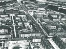 Letecký pohled na rodící se Havířov pár let po vzniku města v roce 1955.