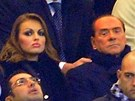 Francesca Pascale a Silvio Berlusconi spolu byli na fotbale.
