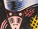 Josef �apek - V noci, ru�n� kolorovan� lino�ez