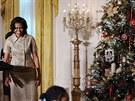 Michelle Obamová je spokojená. Výzdoba Bílého domu se povedla.