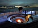 Na terase pevnosti je pro ně připravena výřivka, bar, posezení a občerstvení s...