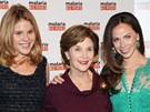 Laura Bushov� a jej� dcery Jenna a Barbara (vpravo) (2011)