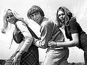 Golden Kids na vrcholu sl�vy (zleva): Helena Vondr��kov�, V�clav Neck�� a Marta