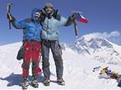 DOKÁZALI JSME TO! Markéta Hanáková a Zdeněk Hodinář na vrcholu Mera Peak. V