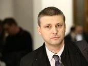 Poslanec Roman Pekárek stanul před Vrchním soudem v Praze (18. prosince 2012).