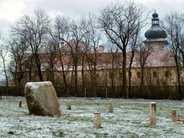 Psí hřbitov v Jimlíně se nachází vedle zámku Nový Hrad.