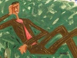 Josef Čapek - Muž ležící v trávě (1934)