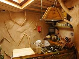 Stromový dům nabízí kompletně vybavenou kuchyni s plynovou varnou deskou,...