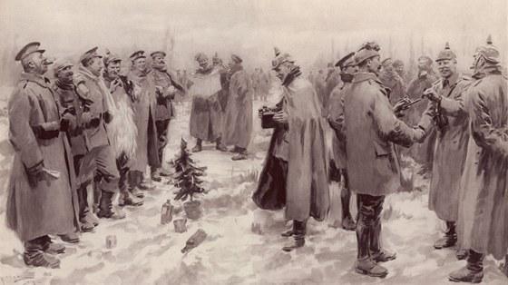 """""""Vy jste Anglo-Sasov�, my Sasov�,"""" pod�vali ruce n�me�t� voj�ci Angli�an�m."""