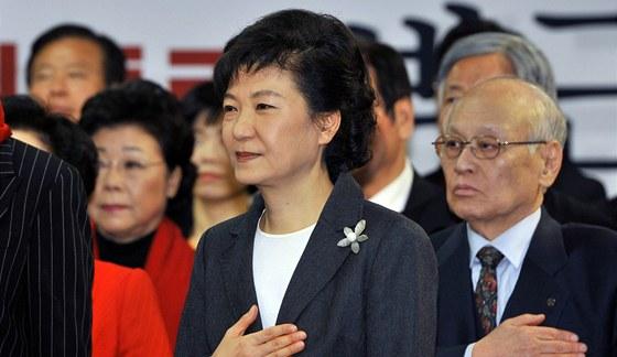 Jihokorejská prezidentka Pak Kun-hje porazila ve volbách svého rivala o pouhá