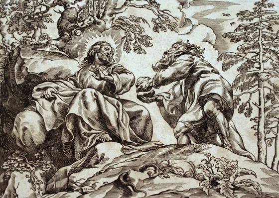 Poku�en� Krista od Christoffele Jeghera z roku 1633 je reprodukc� Rubensova