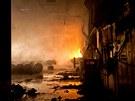Požár tkalcovny textilky Mileta v Hořicích na Jičínsku.