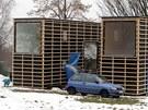 Dřevěné domy se dají vzájemně kombinovat.