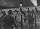 Zastřelí mě, nebo nezastřelí? Obrázek v The Illustrated London News zachycuje