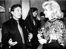 Karel Gott a Helena Vondr��kov� na party r�dia Vox