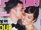 Justin Timberlake a Jessica Bielov� prodali fotky ze svatby �asopisu People.
