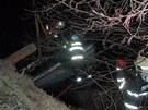 U Litovle na Olomoucku sjel řidič ze silnice, narazil s autem do zábradlí mostu