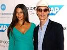 Matthew McConaughey a jeho těhotná manželka Camila (21. září 2012)