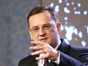 Premiér Petr Nečas se na tiskové konferenci vyjádřil k odvolání ministryně