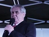 Miloš Zeman navšívil v rámci prezidentské kampaně jako poslední Hradec Králové.