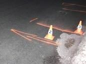 Auto chlapce srazilo na ulici J. A. Komenského v Žacléři, před domem č.p. 55.