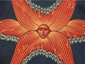 Detail serafína z fresky Apokalypsa v kláštěře Antonína Velikého v