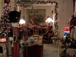 Na vánoční výzdobuse těší každoročně majitelé i jejich sousedé.