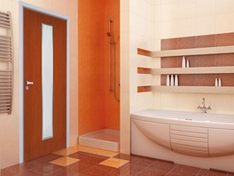 Speciální dveře Elegant pur do vlhka doplňují i speciální zárubně.