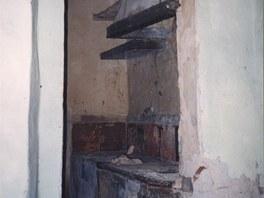 Původní kuchyně v mezipatře