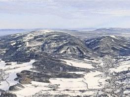 Fotografie ukazuje severní svahy Jizerek.